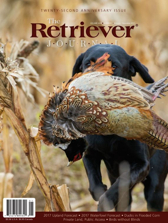 October/November 2017 issue of The Retriever Journal